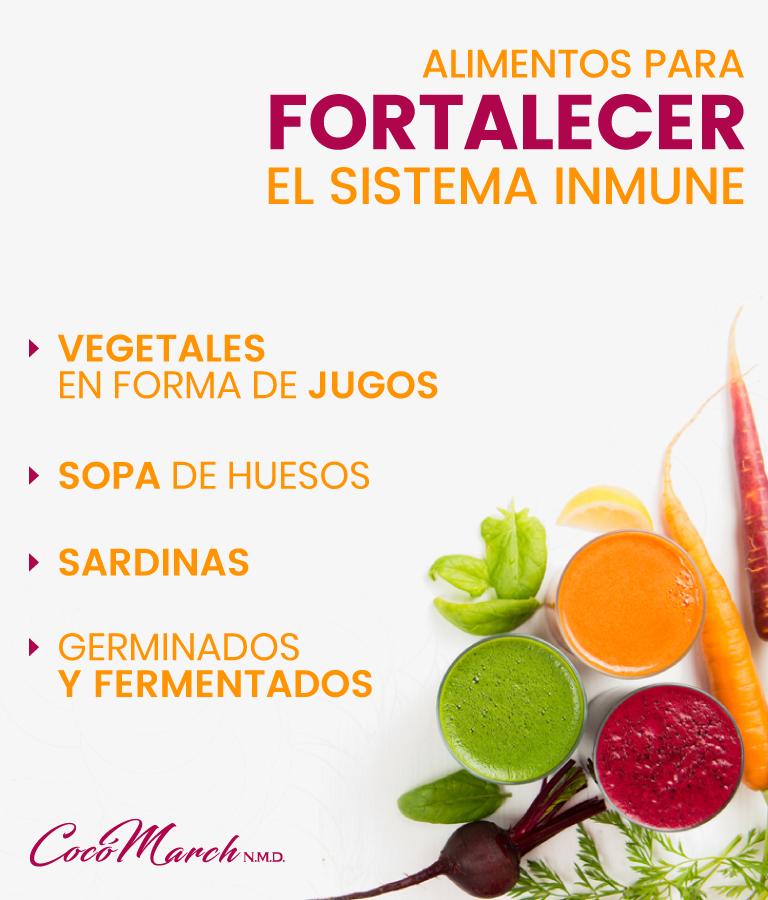 Dieta para el sistema inmunologico