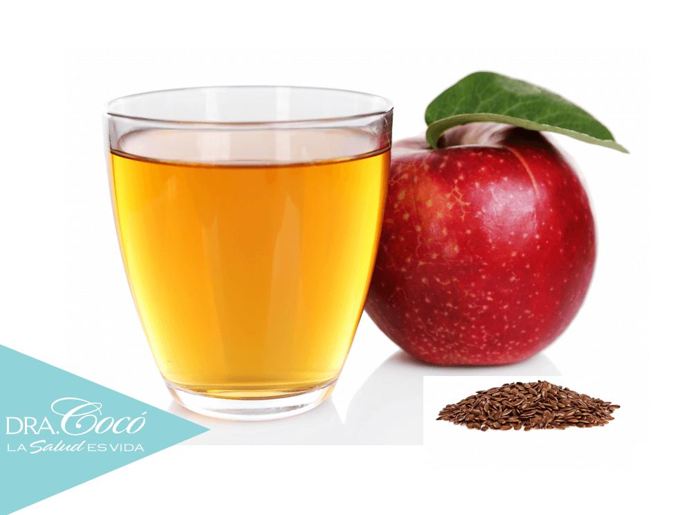 jugo-manzana-linaza-para-desinflamar-hígado-riñón-páncreas