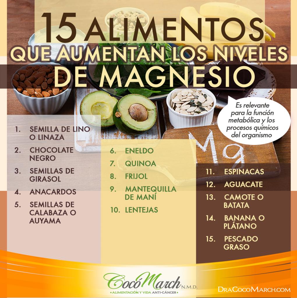 15 alimentos que aumentan los niveles de magnesio coco march - Alimentos q contengan magnesio ...