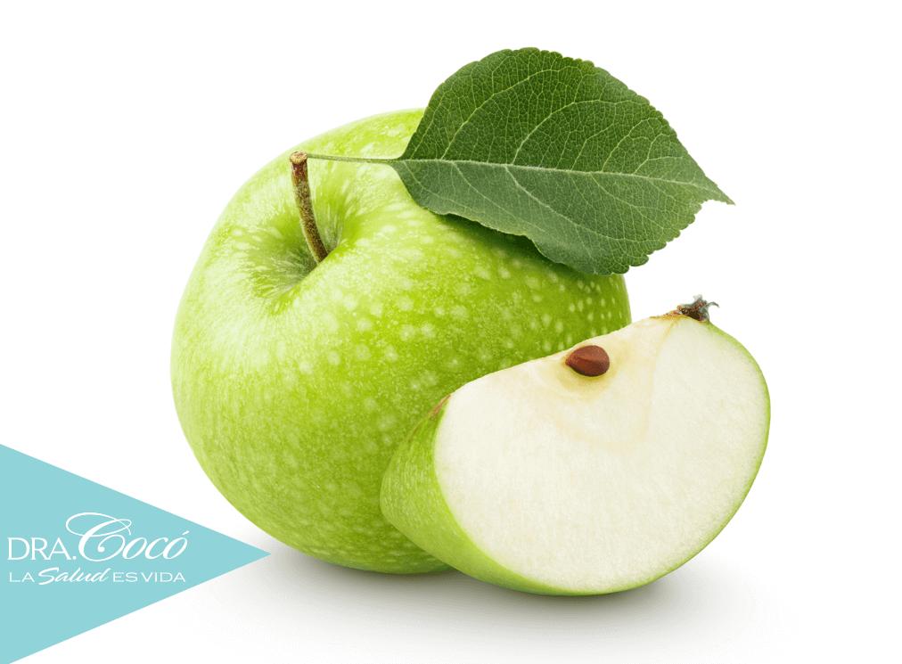 propiedades de la manzana verde con avena