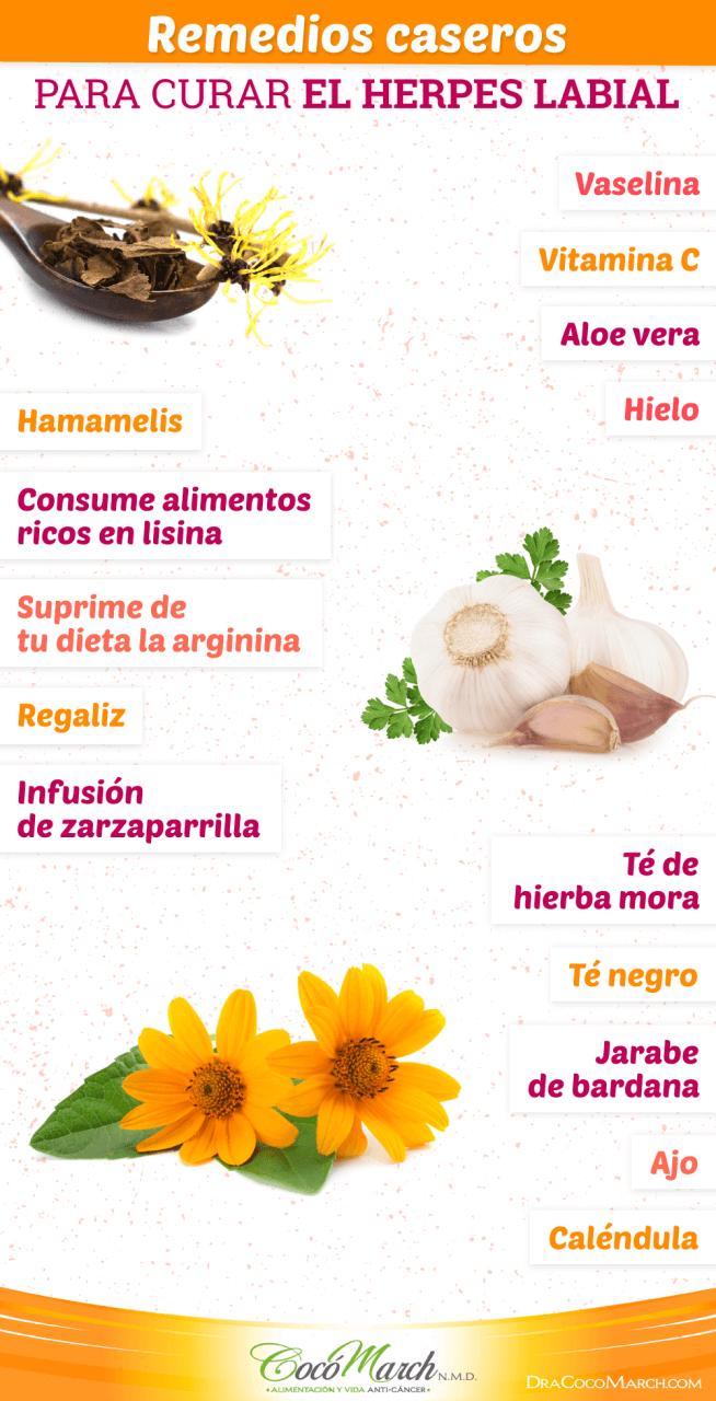 como curar el herpes labial con remedios naturales