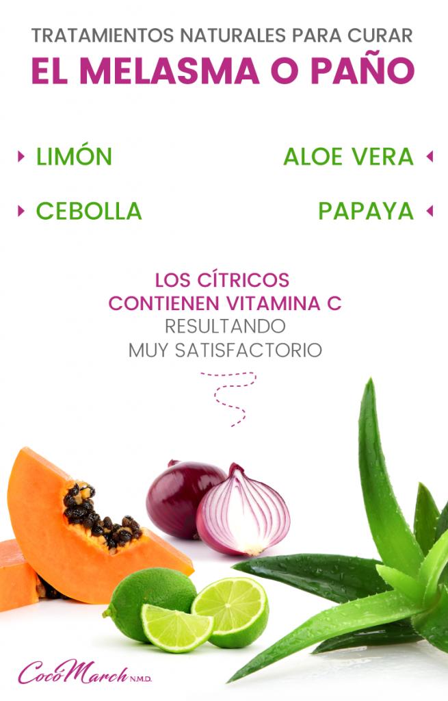 jugos para curar el melasma