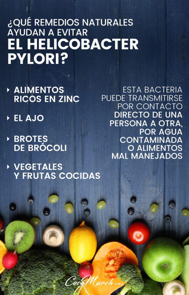 Helicobacter pylori tratamiento natural brocoli